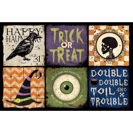 Halloween Patch Poster Print by Stephanie Marrott - Halloween Headquarters Nyc
