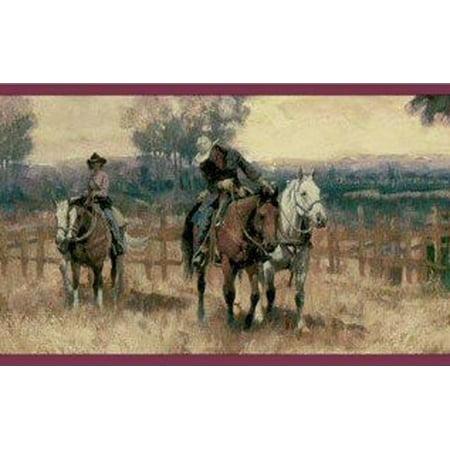 878573 Western Cowboy Horse Wallpaper Border