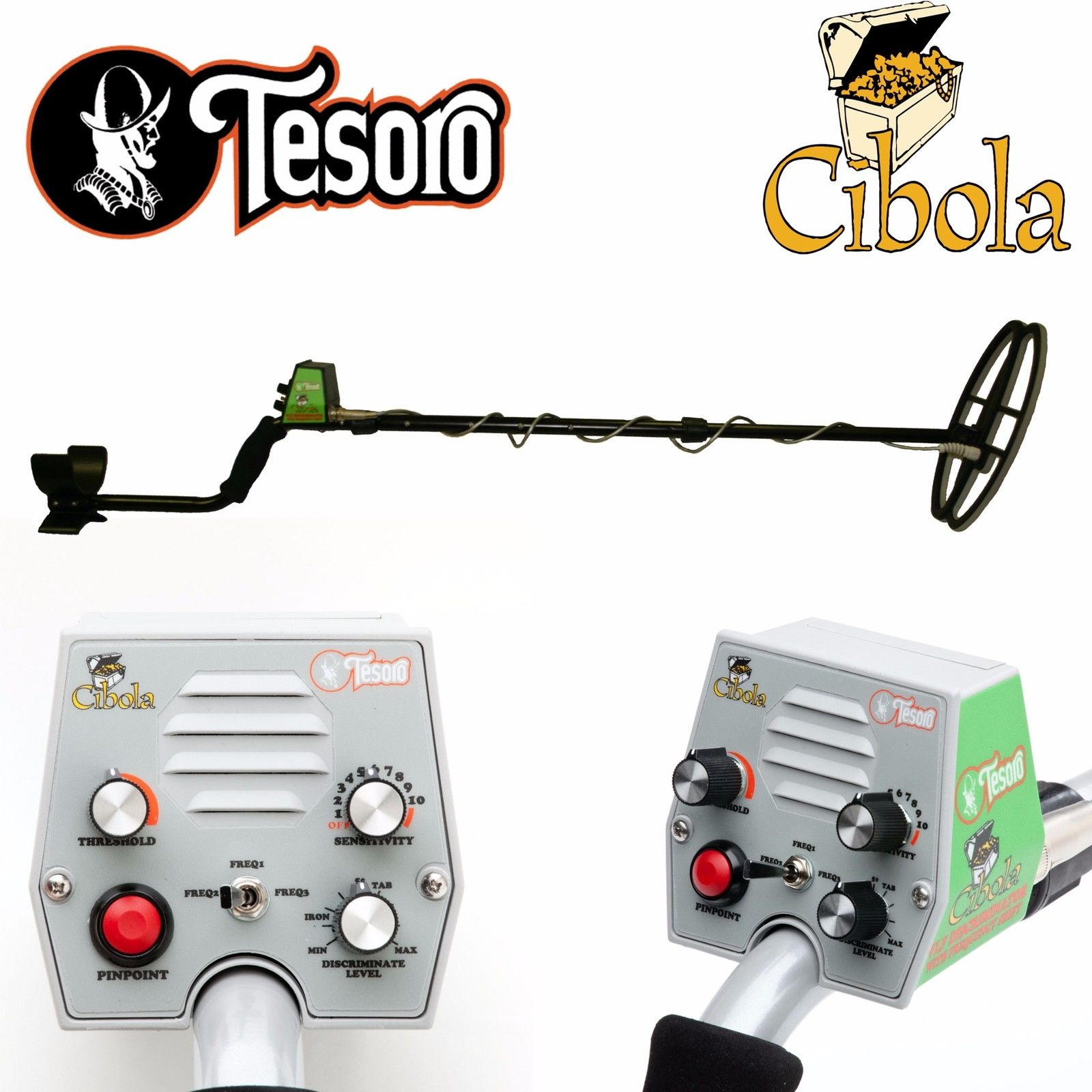 Tesoro Cibola Black Metal Detector with 11inch x 8inch Search Coil and Lifetime Warranty