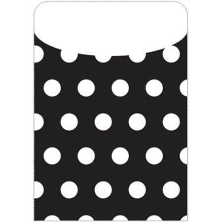Brite Pockets Blk Polka Dots 25/Bag - image 1 of 1