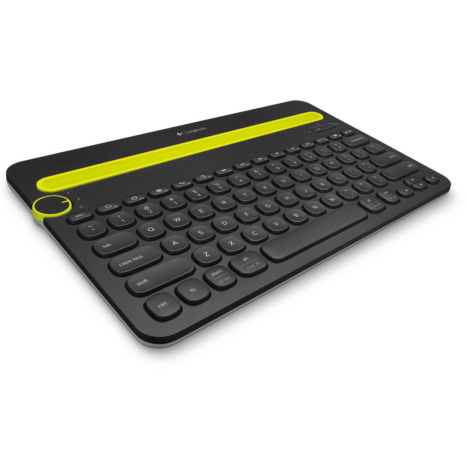 Refurbished Logitech Bluetooth Multi-Device Keyboard K480 for Computers, Tablets and Smartphones, Black