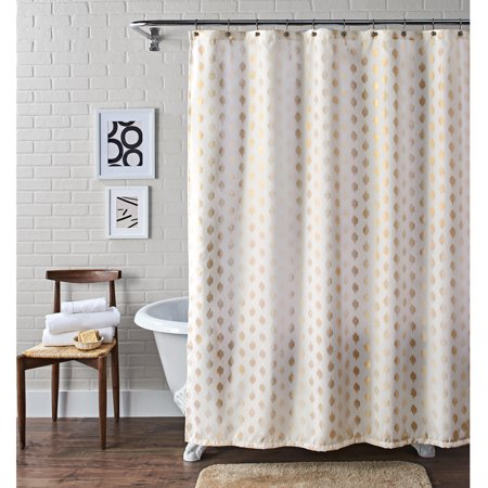 Better Homes & Gardens Metallic Ikat Dou Fabric Shower Curtain, 1