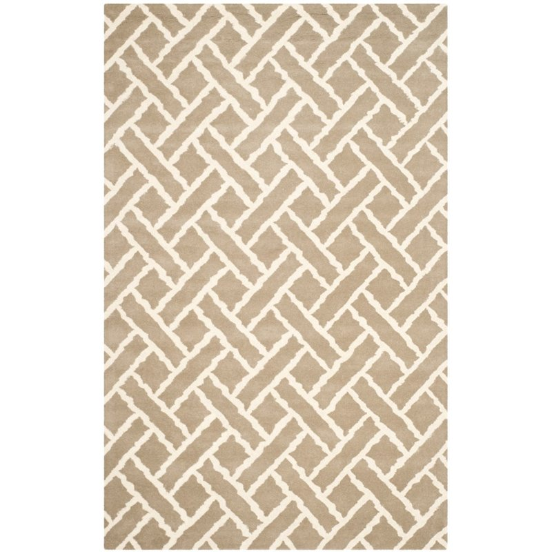 Safavieh Chatham 4' X 6' Hand Tufted Wool Rug in Beige and Ivory - image 5 of 10