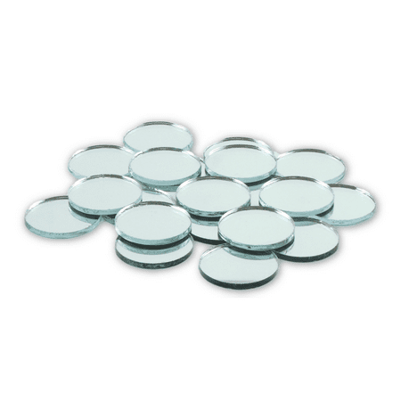 1 inch Small Mini Round Craft Mirrors 25 Pieces Mirror Mosaic Tiles (Mosaic Pieces)