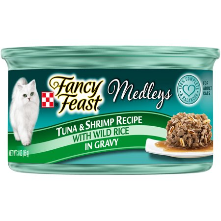 (24 Pack) Fancy Feast Medleys Tuna & Shrimp Recipe Wet Cat Food, 3 oz.