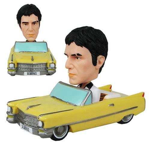Funko Scarface White Suit Version Wacky Wobbler Bobble Head Car