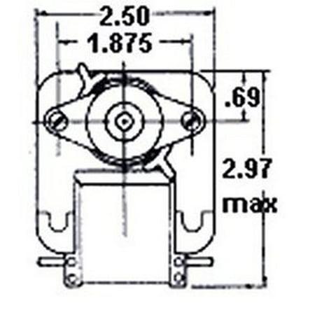 Fasco C-Frame Wall Heater Fan Motor .52 amps 1260 RPM 240V #K101 (CCW rotation)