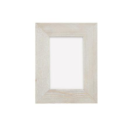 Barn Wood Photo Frame - Whitewash - 4 in x 6 in ()