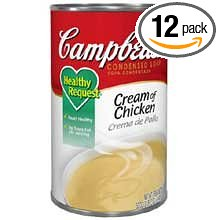 12 PACKS : Campbells Healthy Request Cream Chicken Soup - 50 oz. can, 12 per case