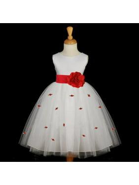 64e0e58e3 Product Image Ekidsbridal Ivory Flower Girl Dress Tulle Rosebud Rose flower  Weddings Summer Easter Special Occasions Pageant Toddler