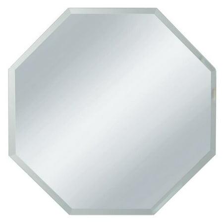 Mercer41 Mcallier Bevel Edge Glass Octagon Accent Mirror (Set of (Beveled Edge Set)