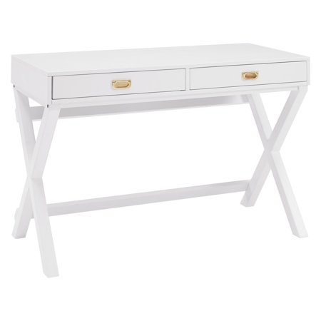 Linon Peggy Writing Desk, 2 Drawers, 30 inches Tall, Multiple