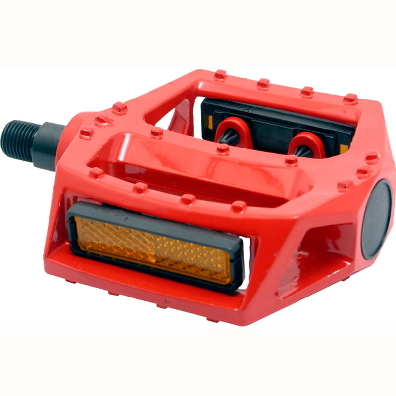 Bike Pedal With Reflector Red Bicycle Pedals