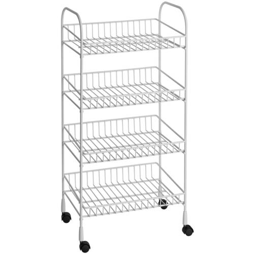 ClosetMaid 4-Tier Metal Rolling Utility Cart, White - Walmart.com