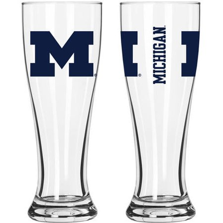 Boelter Brands NCAA University of Michigan Wolverines 2-Pack Gameday Pilsner Set