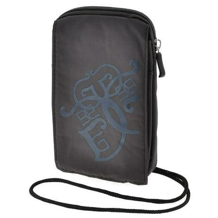 Coffee Color Nylon Hook Loop Fastener Money Pouch Belt Bag Waist Pack for Men