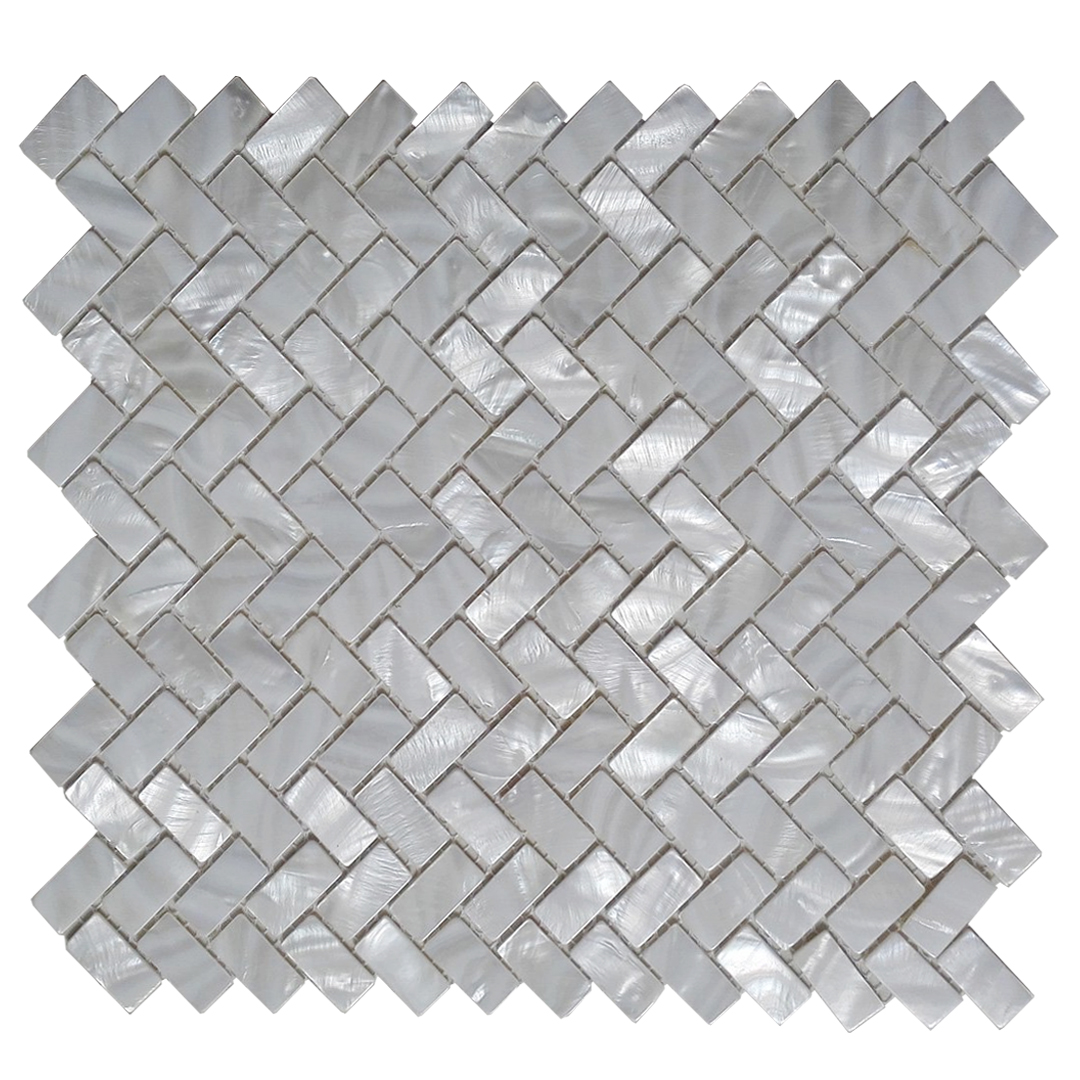 "Art3d Mother of Pearl White Shell Mosaic Tile for Kitchen Backsplashes, Bathroom Walls, Spas, Pools, 12"" x 12"" Groutless"