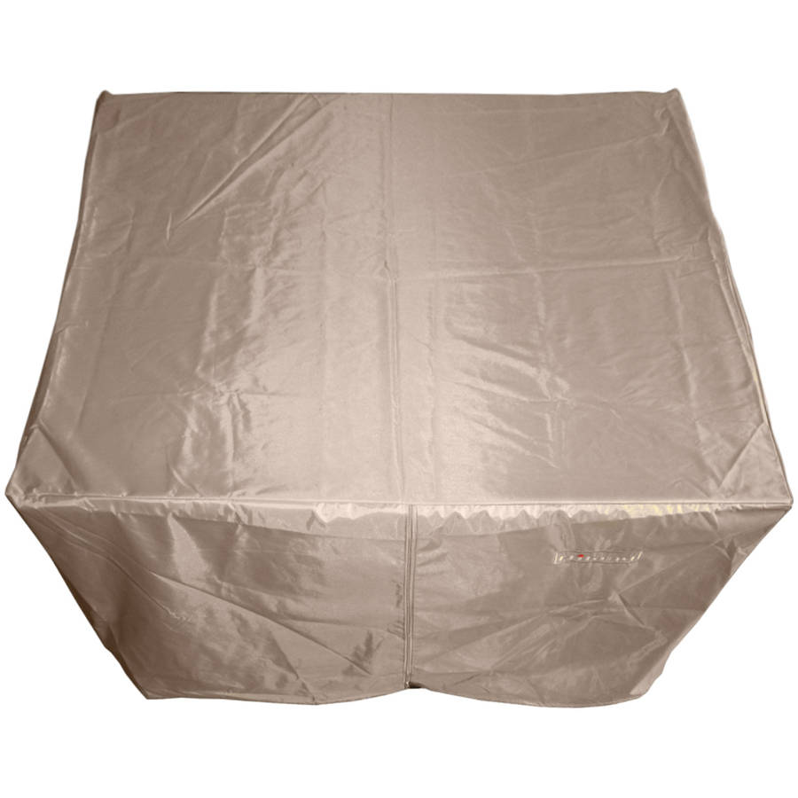 Hiland Heavy-Duty Large Square Firepit Cover, Camel