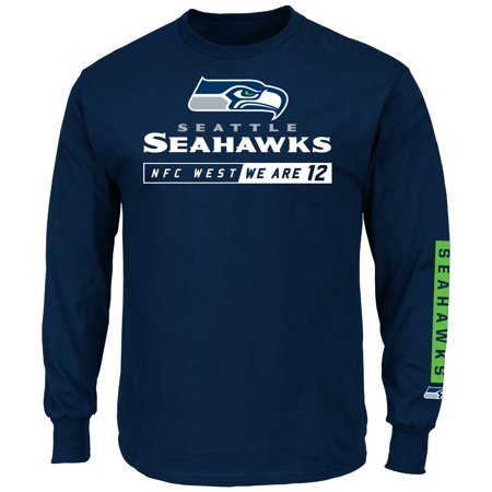 Seattle Seahawks Majestic NFL Primary Receiver 2 Long Sleeve Men's T-Shirt