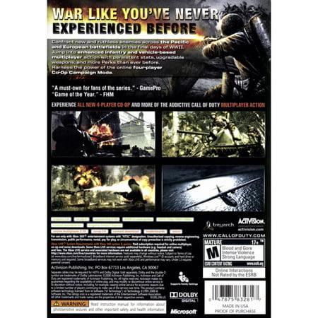 Activision Call Of Duty: World At War (Xbox 360) - (Call Of Duty World At War Ps3 Walkthrough)