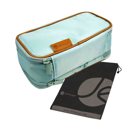 Javoedge Double Sided Makeup Cosmetic Bag And Jewelry Travel Multi Function Organizer New Size 8 L X 4 5 H 3 W
