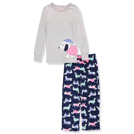 2676084f743d Carter s - Carter s Baby Girls  2 Piece Dog Fleece Pajamas - Walmart.com