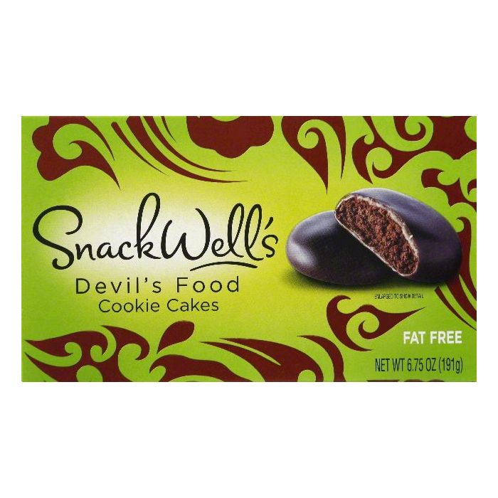 Snack Wells Devil's Food Cookie Cakes, 6.75 OZ (Pack of 12)