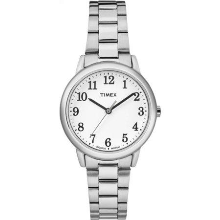Women's Easy-Reader White Dial Watch, Silver-Tone Stainless Steel Bracelet