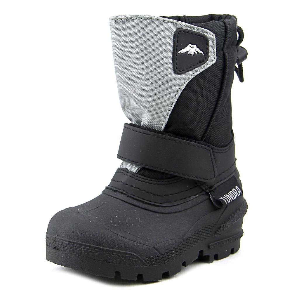 Tundra Quebec  Toddler  Round Toe Synthetic Black Snow Boot