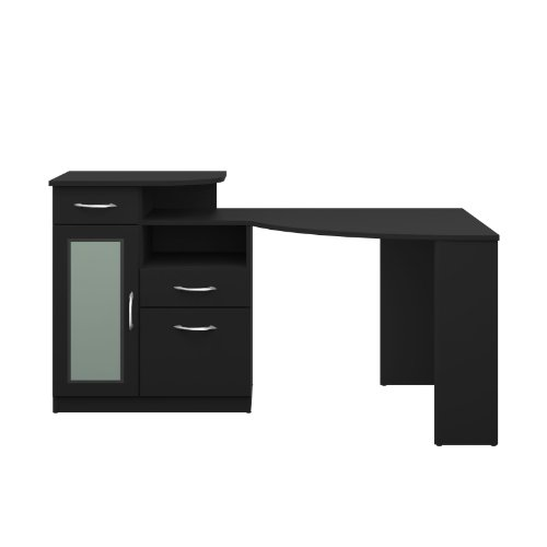 DOPO Bush Furniture Vantage Corner Desk - Black