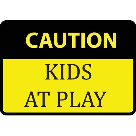 Caution Kids At Play Sign - Large Warning Children Playing ...