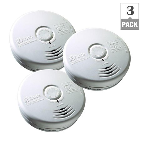 Battery-Operated Combination Carbon Monoxide and Smoke Alarm with Photoelectric Sensor 3 PACK (3 Pack)