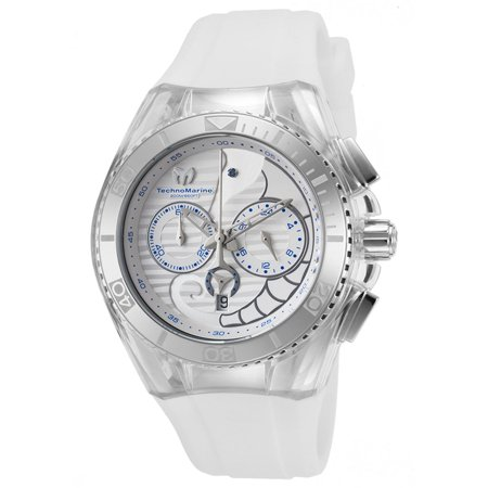 Technomarine TM-115006 Unisex Cruise Dream Chrono Seahorse White Dial Interchangeable White Strap Dive Watch