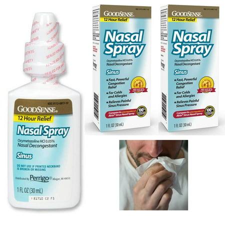 2 Allergy Sinus Nasal Spray Decongestant Mist 12 Hour Mucus Relief Oxymetazoline Sinus Relief Homeopathic Spray