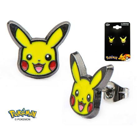 Pokemon Pikachu Stud Earrings Electric Type Pokemon Go - Officially Licensed Pokemon Pikachu Stud Earrings Electric Type Pokemon Go - Officially Licensed