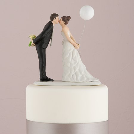 Leaning in for a Kiss Balloon Wedding Cake Topper - Balloon Cake