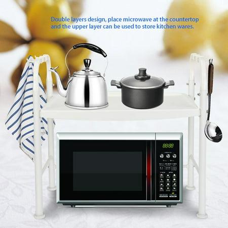 Anauto Ivory White Microwave Oven Rack Stand Household Kitchen Wares  Storage Shelf Organizer, Microwave Oven Stand, Microwave Oven Rack