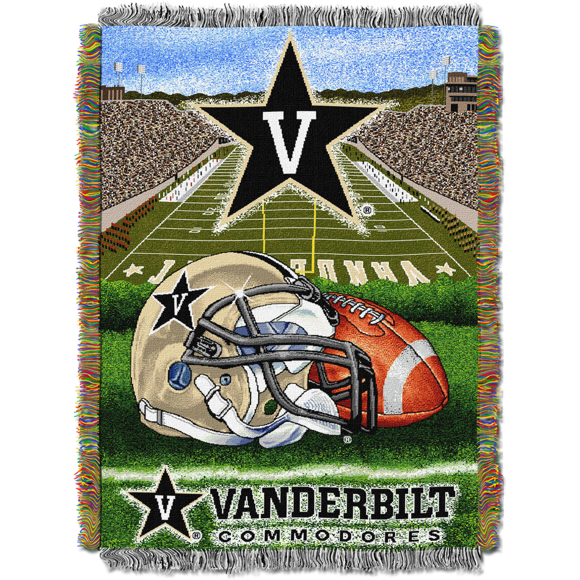 "NCAA 48"" x 60"" Tapestry Throw Home Field Advantage Series- Vanderbilt"