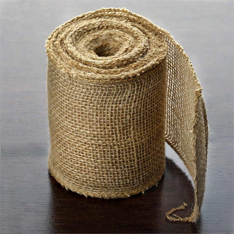 """Efavormart 5"""" x 10 yards Natural Brown Burlap Fabric Bolt Wedding Party Crafts Sewing SALE"""