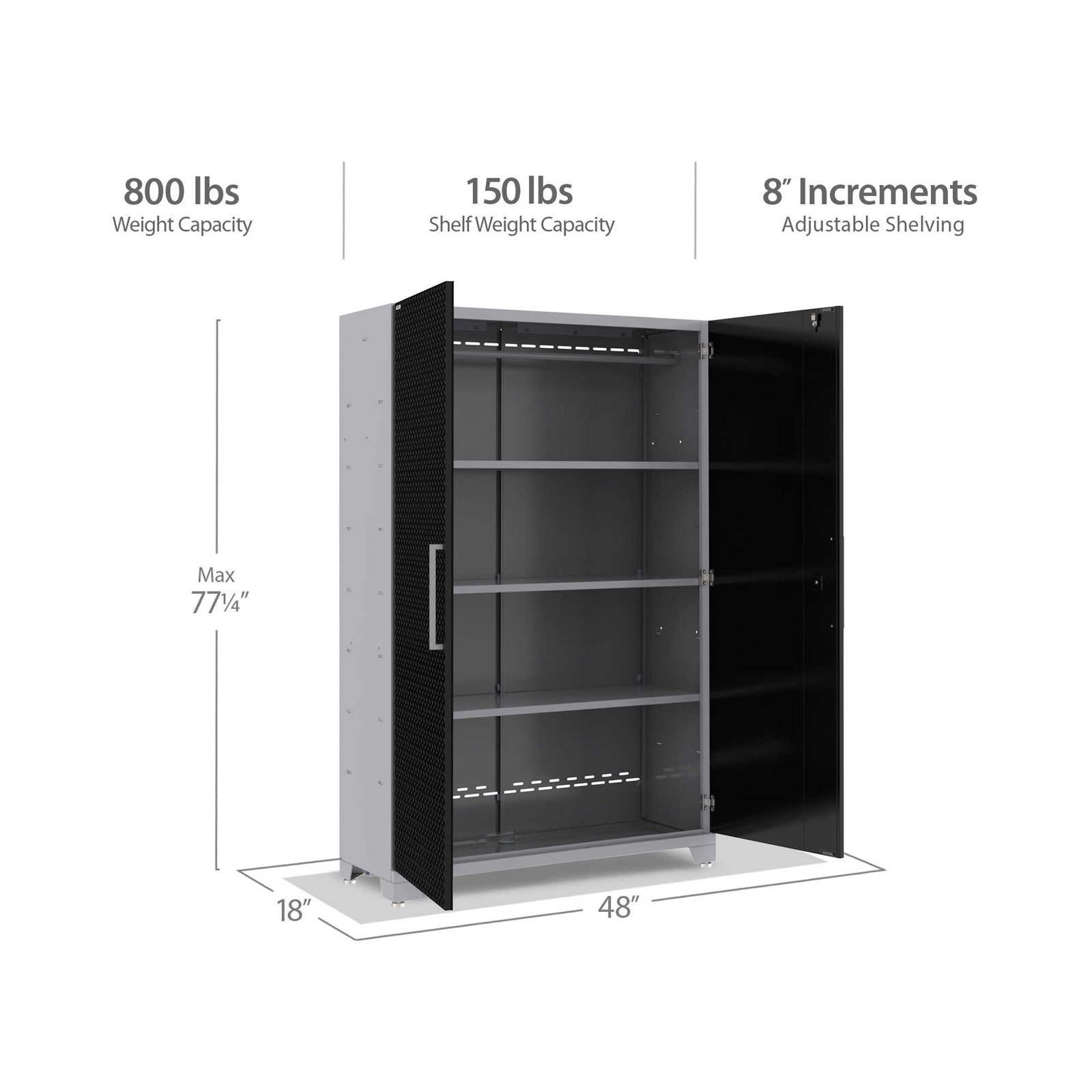 NewAge Products Performance 2.0 Diamond Plate 48 in. Locker