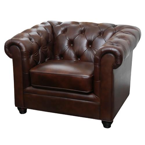 Breakwater Bay Galveston Premium Italian Leather Armchair by