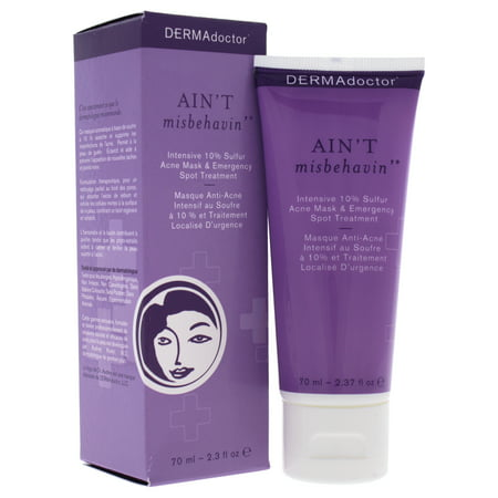 DERMAdoctor Aint Misbehavin Intensive 10% Sulfur Acne Mask Treatment - 2.3 (Dermadoctors Ain T Misbehavin Emergency Spot Treatment)