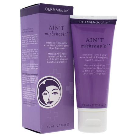 DERMAdoctor Aint Misbehavin Intensive 10% Sulfur Acne Face Mask Treatment - 2.3 oz