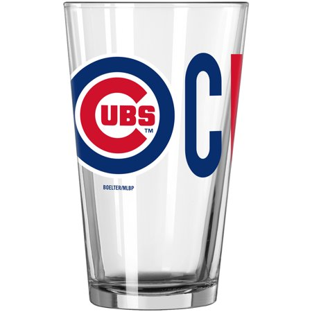 Chicago Cubs 16oz. Overtime Pint Glass - No Size Chicago Cubs Stained Glass
