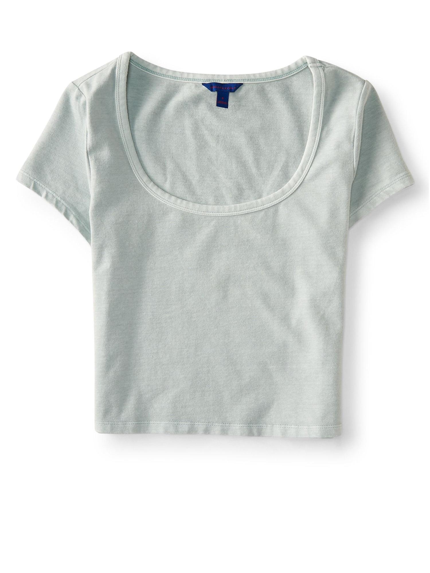 Aeropostale Juniors Washed Bodycon Basic T-Shirt