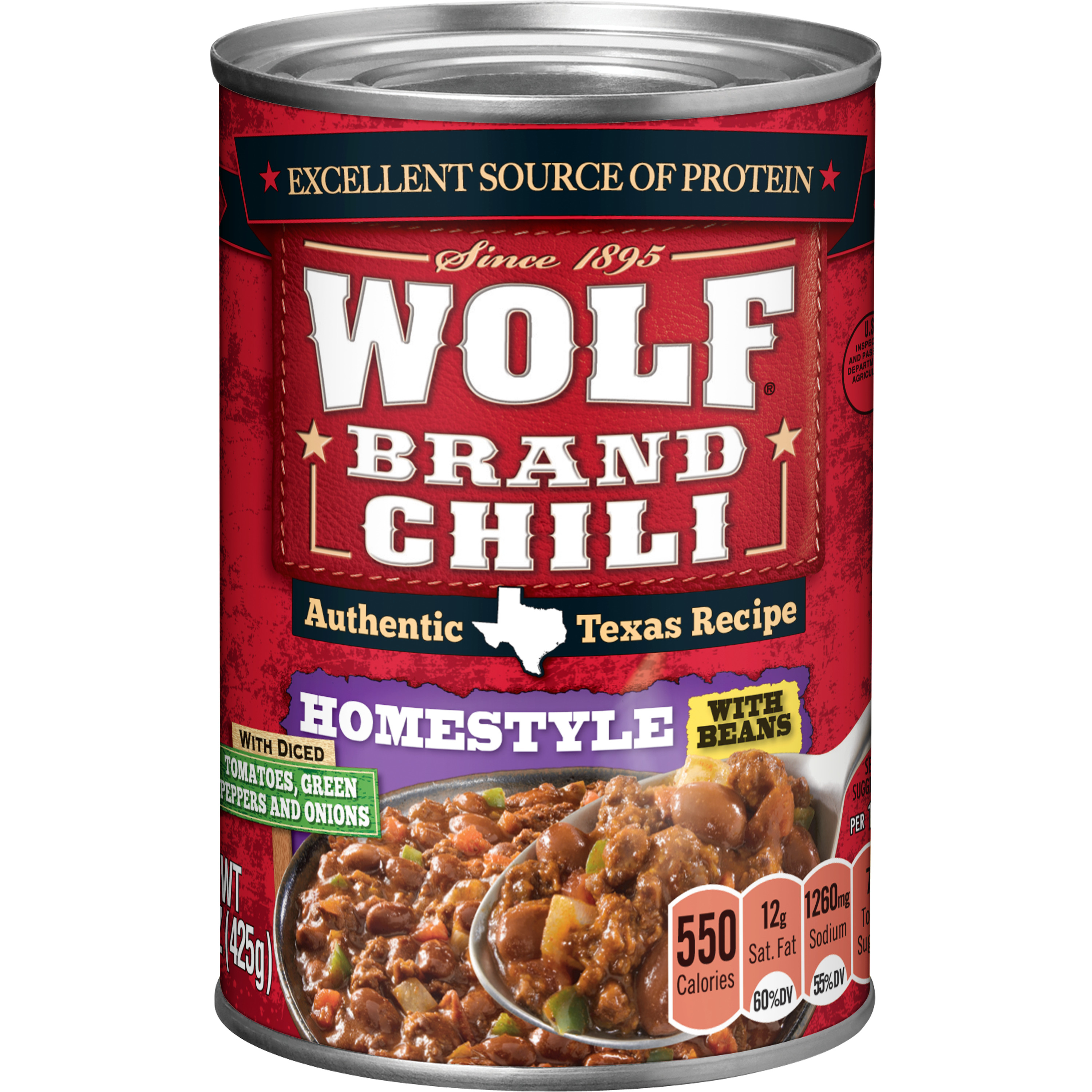 Wolf Homestyle Chili With Beans, 15 Oz