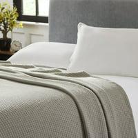 100% Cotton Waffle Weave Thermal Blanket - Denim