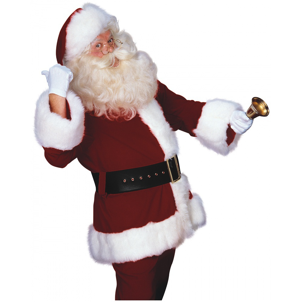 Rubie's Super Deluxe Velveteen Santa Claus Suit Adult Costume - X-Large