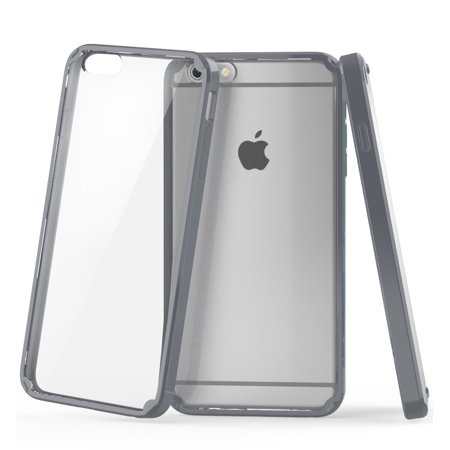 iPhone 6 Plus/6s Plus - Vena [RETAIN] Slim Fit [Shockproof] Clear Back Bumper Case Cover - Gray - image 1 of 1