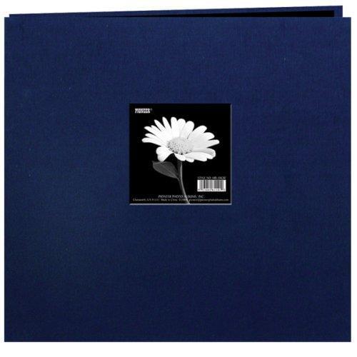 Pioneer Photo Albums MB10CBFE-REN Earth Tone Fabric Scrapbook 12X12 Regal Navy